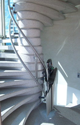 Inclined weelchair lift,for any type of stairs